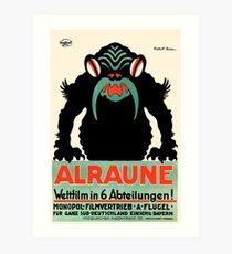 1918 Alraune Hungarian Horror Film Movie Poster Art Print