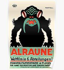 1918 Alraune Hungarian Horror Film Movie Poster Poster