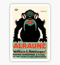 1918 Alraune Hungarian Horror Film Movie Poster Sticker