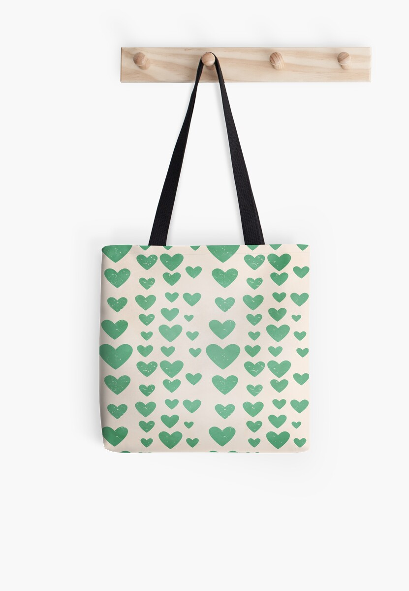 Rows of Green Hearts