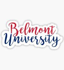 Belmont University Sticker