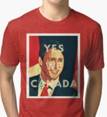 Justin Trudeau Yes We Canada Tri-blend T-Shirt