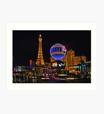 Eiffel Tower in LV Art Print
