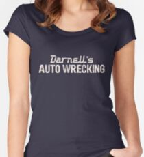 Darnells AUTO WRECKING Women's Fitted Scoop T-Shirt