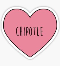 Chipotle Heart Sticker