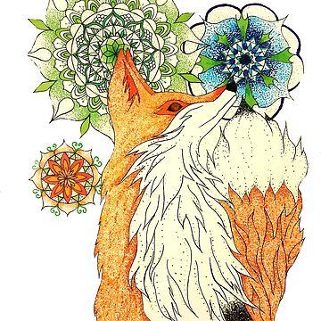 Trippy Little Fox by CraftyRedFox