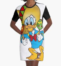 Donald Duck Sombrero Maracas Graphic T-Shirt Dress