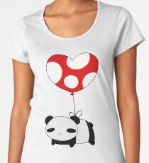 Heart Balloon Panda Women's Premium T-Shirt