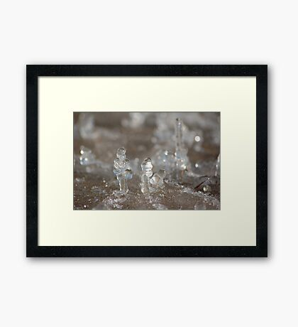 bitty ice creatures Framed Print