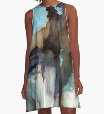 Alcohol Ink 74 A-Line Dress