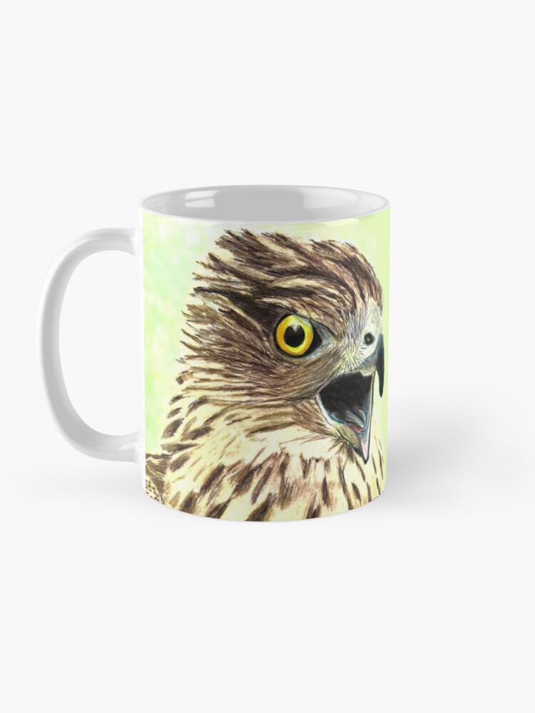 Quot Screaming Coopers Hawk Quot Mug By Rebeccakoconnor Redbubble