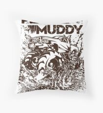Mud Truck Play Muddy Bogger Throw Pillow