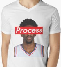 Joel Embiid Philadelphia 76ers Sixers Process Men's V-Neck T-Shirt