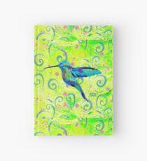 Hummingbird and Swirls Hardcover Journal