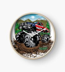 Mud Truck USA Country Style Clock