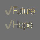 Future and Hope in Gold by Stephanie Perry