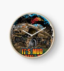 Mud Truck It's Mud Boggin' Time Clock