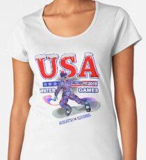 USA 2018 Winter Games US South Korea Sports T-shirt Women's Premium T-Shirt