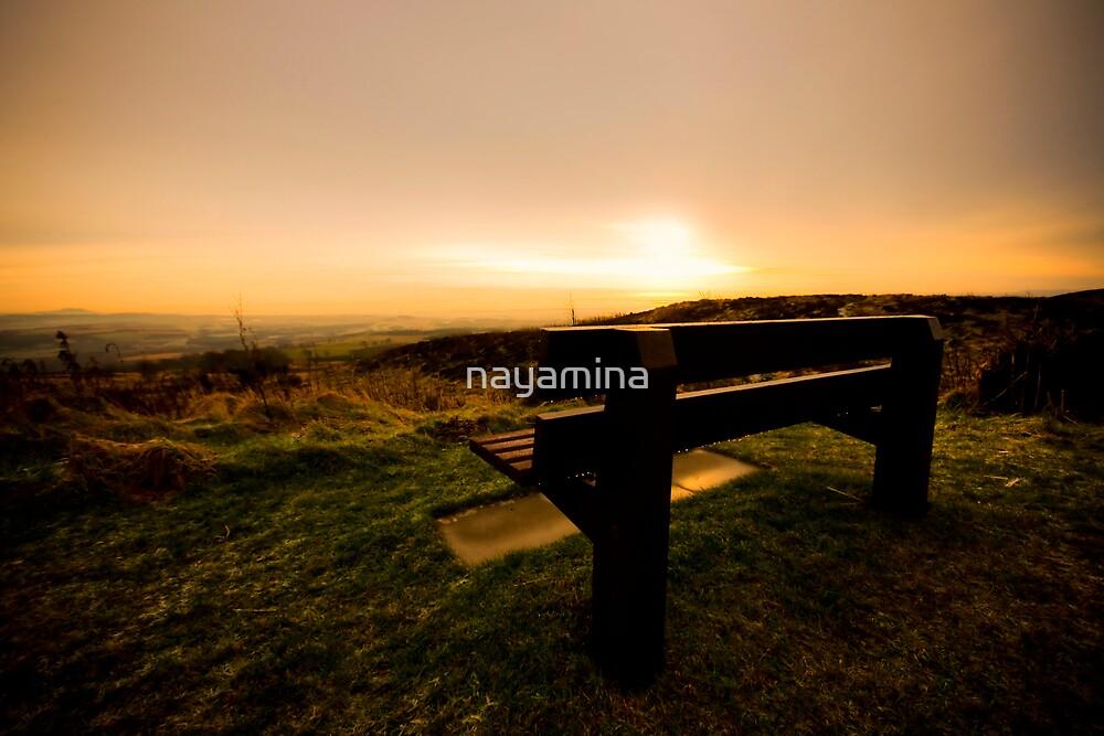 Bench on sunset hill by nayamina