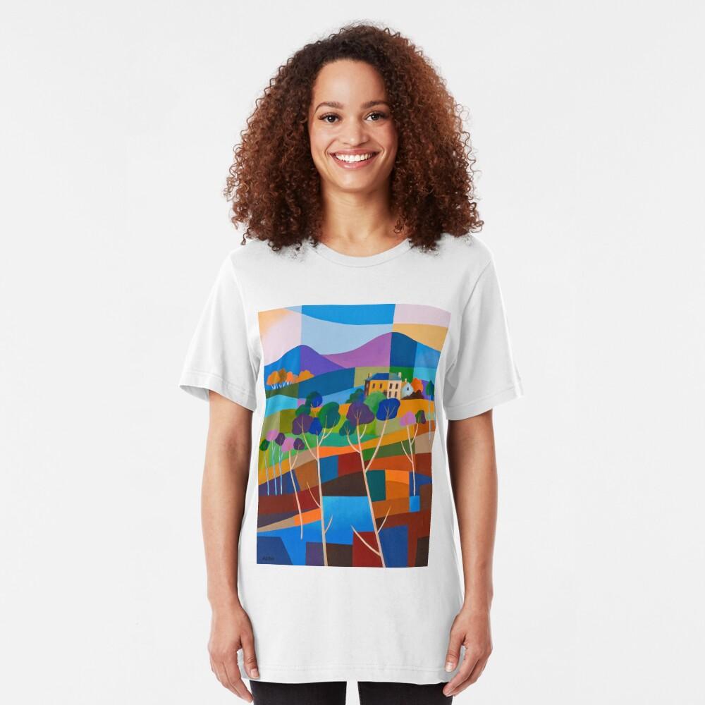 RICHMOND VIEW II, TASMANIA Slim Fit T-Shirt