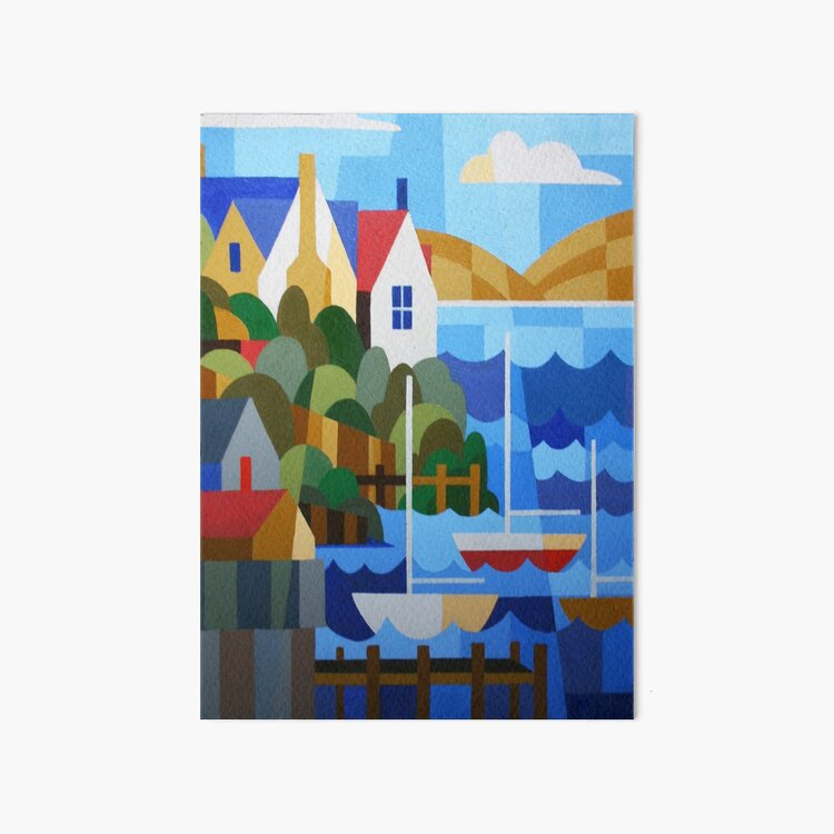 BATTERY POINT, HOBART, TASMANIA Art Board Print