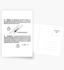 General Physics, PHY 110 Postcards