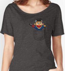 Ashy Slashy Pocket Women's Relaxed Fit T-Shirt