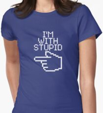 I'm With Stupid Women's Fitted T-Shirt