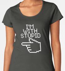 I'm With Stupid Women's Premium T-Shirt