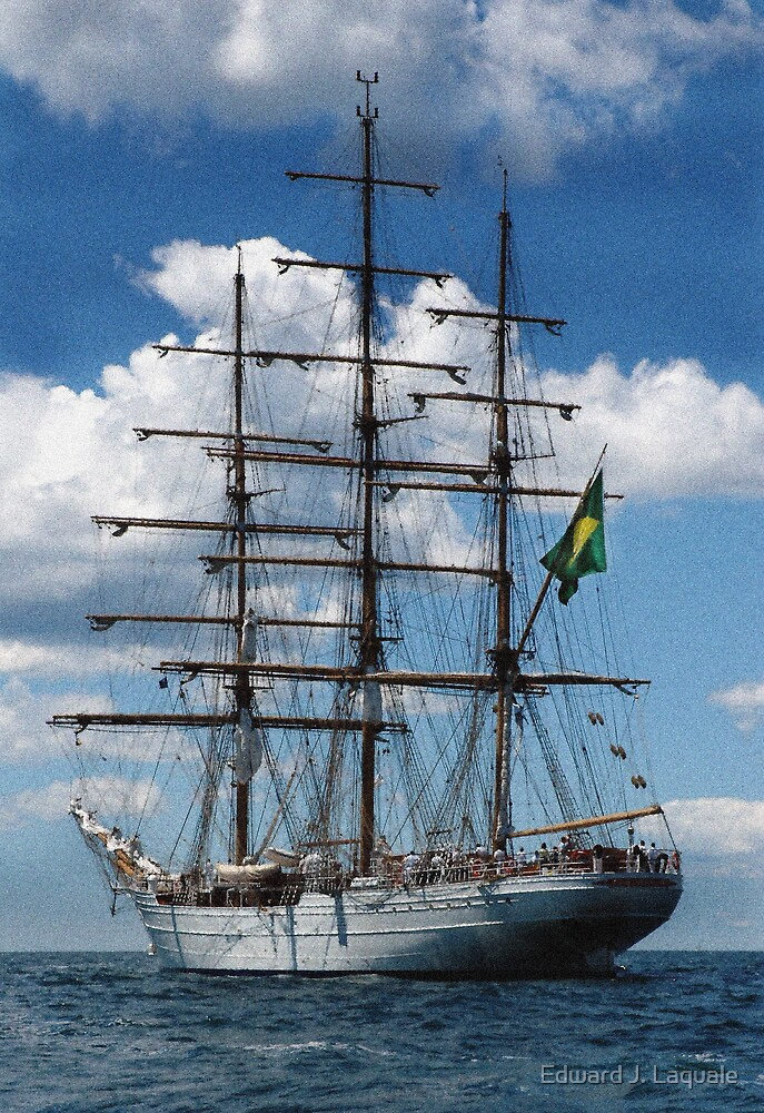 BRAZILIAN TALL SHIP   CISNE BRANCO  NEWPORT,  RHODE ISLAND ** by Edward J. Laquale