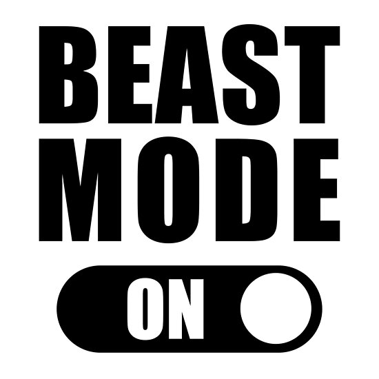 \'Beast Mode On - Gym Fitness Quote\' Poster by maniacfitness