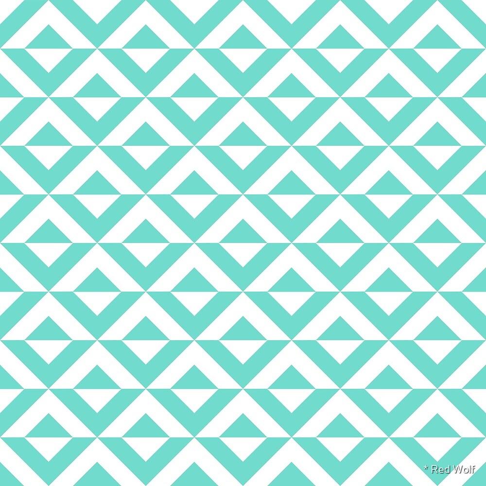 Geometric Pattern: Diamond Split: Blue by * Red Wolf