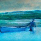 Moroccan fisherman by Geraldine Lefoe
