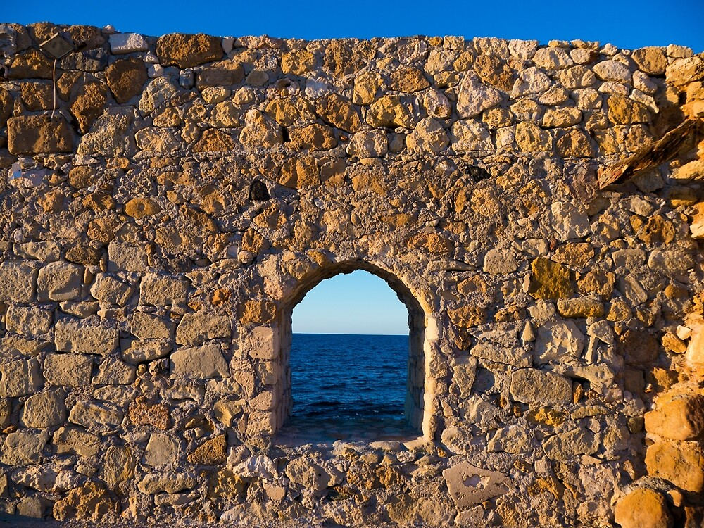 Window to the Aegean Sea by Rae Tucker