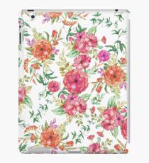 Vinilo o funda para iPad Bohemia chic rosa coral verde acuarela floral