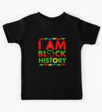 Ich bin Black History Month Black Pride Kinder T-Shirt
