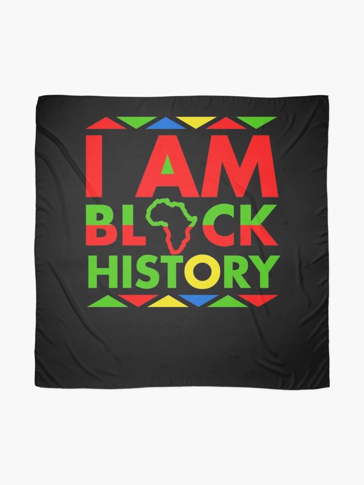 Alternate view of I am Black History Month Black Pride Scarf