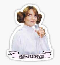 Liz Lemon as Leia - I'm a Princess! Sticker