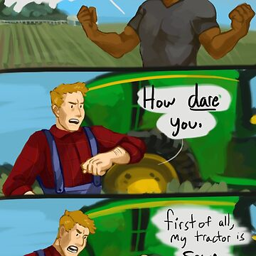 Sexy Green Tractor by Endousbutt