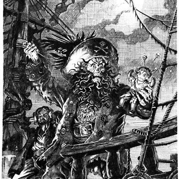 LeChuck's Revenge Engraving by pixelskaya