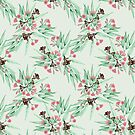 Eucalyptus Pastel Pink & Pale Mint Green by ThistleandFox