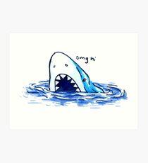 Awkward Shark! Art Print