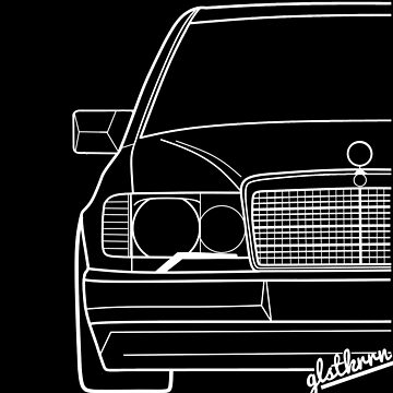 W124 shirt silhouette contour drawing by glstkrrn