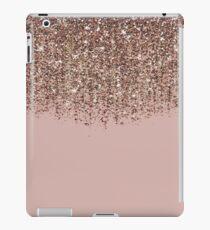 Erröten Rosa Rose Gold Bronze Cascading Glitter iPad-Hülle & Skin