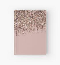 Erröten Rosa Rose Gold Bronze Cascading Glitter Notizbuch