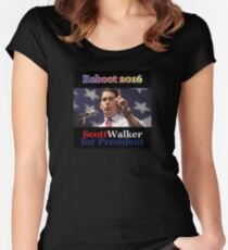 Scott Walker for President 2016 Women's Fitted Scoop T-Shirt