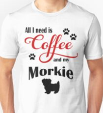 Coffee and my Morkie Unisex T-Shirt