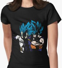 Goku and Vegeta - Super Saiyan Blue Women's Fitted T-Shirt