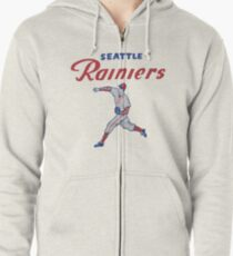 Baseball Team Seattle Rainiers, originally named the Seattle Indians and aka the Seattle Angels, Zipped Hoodie
