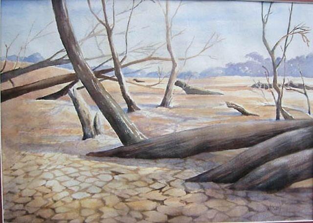 Lake Eppalock ...dry! by Mrswillow